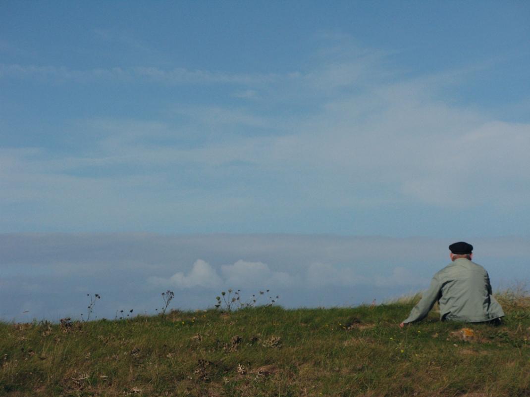 Breton man watching the horizon