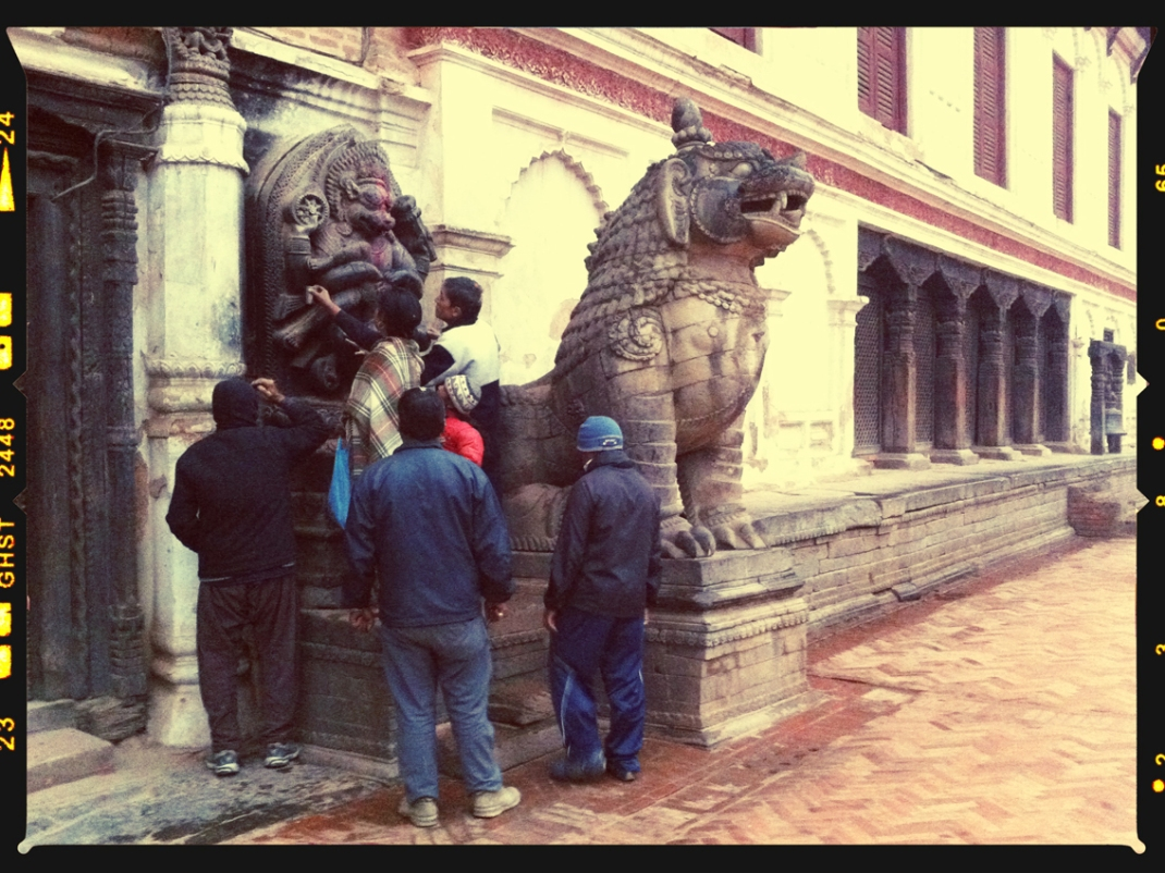 Morning offerings in Bhaktapur